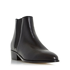 Dune - Black 'Pearce' pointed toe leather chelsea boot