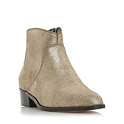 Dune - Bronze 'Pearcey' pointed toe ankle boot