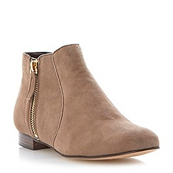 Dune - Natural side zip detail ankle boot