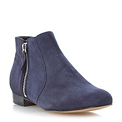 Dune - Navy side zip detail ankle boot