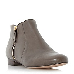 Dune - Brown side zip leather pixie boot
