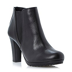 Dune - Black cleated sole heeled chelsea boot
