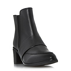 Dune - Black leather loafer boot
