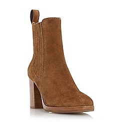 Dune - Tan 'Parker' square toe chelsea boot