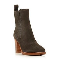 Dune - Grey 'Parker' square toe chelsea boot