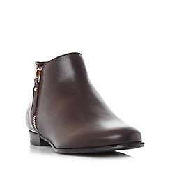 Dune - Maroon 'Pander' side zip ankle boot
