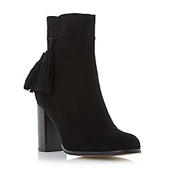 Dune - Black suede tassel detail ankle boot
