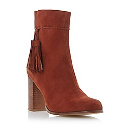Dune - Red suede tassel detail ankle boot