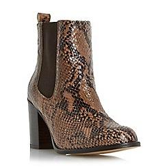 Dune - Natural 'Prynn' block heel chelsea boot