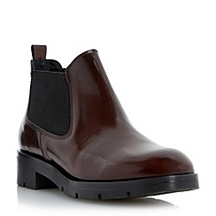 Dune - Red low leather chelsea boot