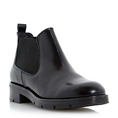 Dune - Black low leather chelsea boot