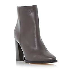 Dune - Grey 'Prestonn' high heeled leather ankle boot