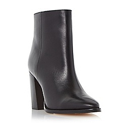 Dune - Black 'Prestonn' high heeled leather ankle boot
