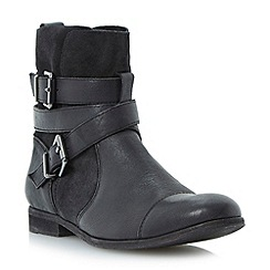 Dune - Black washed leather ankle boot