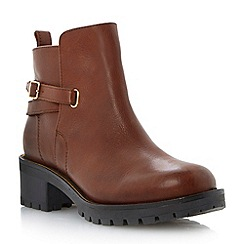 Dune - Brown zip rand leather ankle boot