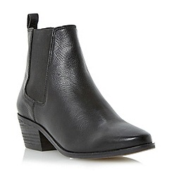 Dune - Black block heel leather chelsea ankle boot