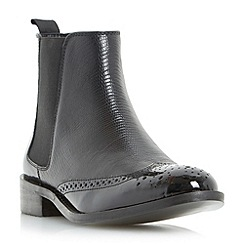 Dune - Black 'Quentin' leather brogue chelsea boot