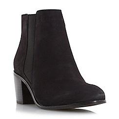 Dune - Black 'Peonie' mid heel chelsea boot
