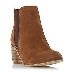 Dune - Brown 'Peonie' mid heel chelsea boot