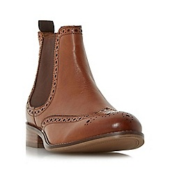 Dune - Tan 'W quenton' wide fit brogue chelsea boot