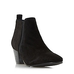 Dune - Black 'Perdy' block heel ankle boot