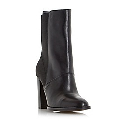 Dune - Black 'Pembleton stretchy pull on leather ankle boot