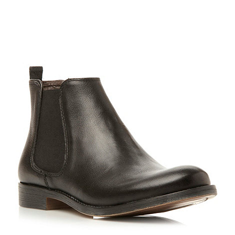 Dune - Black leather ankle chelsea boot