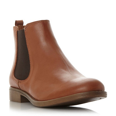 Dune - Tan +Paddys+ round toe leather chelsea boot