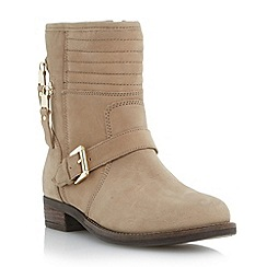 Dune - Neutral double zip detail biker boot