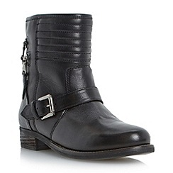Dune - Black double zip detail biker boot
