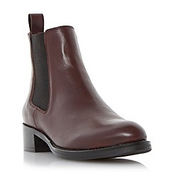 Dune - Maroon 'Peppie' leather chelsea boot