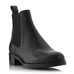 Dune - Black 'Peppie' leather chelsea boot