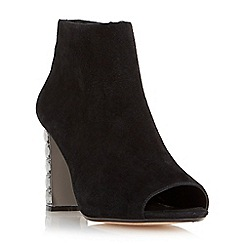 Dune - Black 'Daniela' diamante heel peep toe boot