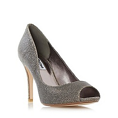 Dune - Gold 'Dinaa' peep toe high heel court shoe