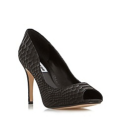 Dune - Black 'Dinaa' peep toe high heel court shoe