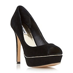 Dune - Suede metallic detail platform court shoe