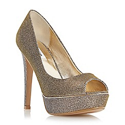 Dune - Metallic metallic detail platform court shoe