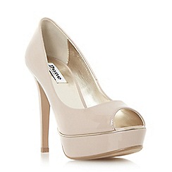 Dune - Patent metallic detail platform court shoe