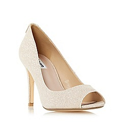 Dune - Light pink 'Dinah' peep toe high heel court shoe