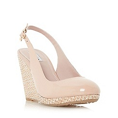 Dune - Natural 'Carey' espadrille slingback wedge sandal