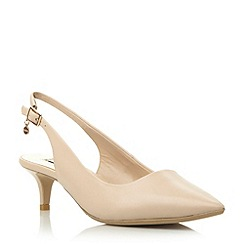 Dune - Neutral kitten heel slingback court shoe