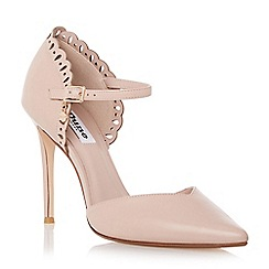 Dune - Neutral laser cut two part court shoe
