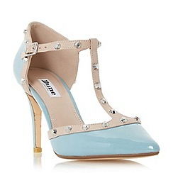 Dune - Blue 'Cliopatra' studded t-bar court shoe