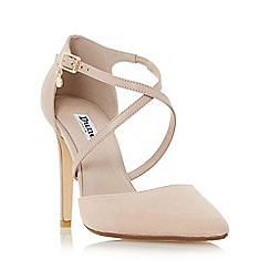 Dune - Light pink 'Connie' cross strap two part court shoe