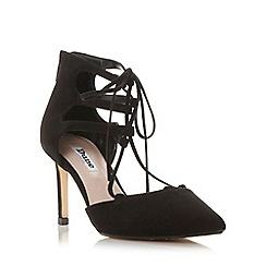 Dune - Black 'Charlize' two part ghillie lace court shoe