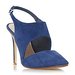 Dune - Navy 'Caprice' stiletto slingback court shoe