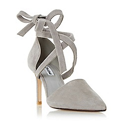 Dune - Grey 'Cameren' lace up two part court shoe