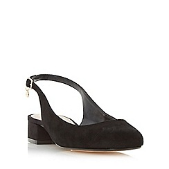Dune - Black 'Coco' slingback block heel court shoe