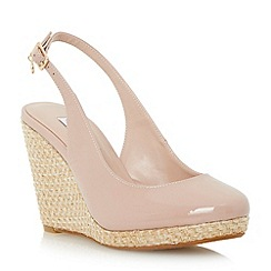 Dune - Neutral espadrille slingback wedge sandal