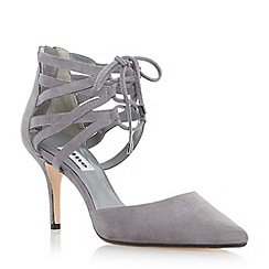Dune - Grey two part lace up court shoe